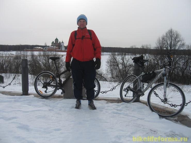 Зимняя велопрогулка Уваровка-Можайск 2008г.